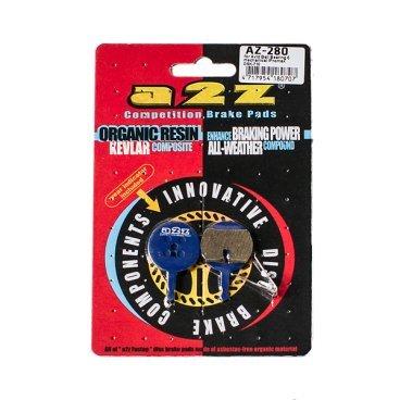 Тормозные колодки A2Z Avid Ball Bearing 5 mechanical/Promax DSK-710, синий, AZ-280Тормоза на велосипед<br>A2Z - небольшой тайваньский завод по производству велосипедных запчастей, специализируется на выпуске высококачественных компонентов, легких втулок, тормозных дисков, титановых эксцентриков и других деталей. <br><br>    Превосходные тормозные свойства колодок уменьшают тормозной путь<br>    Высокоэффективный состав увеличивает мощность при любых погодных условиях<br>    Все тормозные колодки A2Z сделаны из органических соединений и не содержат асбеста <br><br>Виды тормозных колодок A2Z: <br> - Blue (organic) - высокоэффективные органические колодки, на 110%* выше мощность и на 150%* дольше срок службы <br><br>*по сравнению со стоковыми колодками<br>