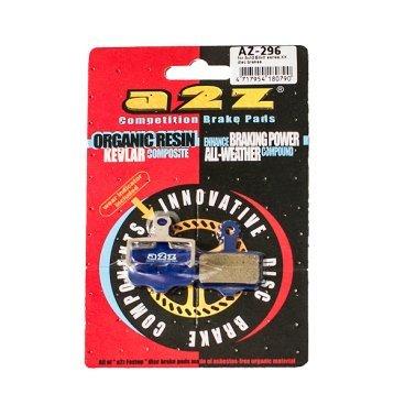 Тормозные колодки A2Z Avid Elixir XX, синий, AZ-296Тормоза на велосипед<br>A2Z - небольшой тайваньский завод по производству велосипедных запчастей, специализируется на выпуске высококачественных компонентов, легких втулок, тормозных дисков, титановых эксцентриков и других деталей.<br><br>    Превосходные тормозные свойства колодок уменьшают тормозной путь<br>    Высокоэффективный состав увеличивает мощность при любых погодных условиях<br>    Все тормозные колодки A2Z сделаны из органических соединений и не содержат асбеста<br><br>Виды тормозных колодок A2Z:<br>- Blue (organic) - высокоэффективные органические колодки, на 110%* выше мощность и на 150%* дольше срок службы <br><br>*по сравнению со стоковыми колодками<br>