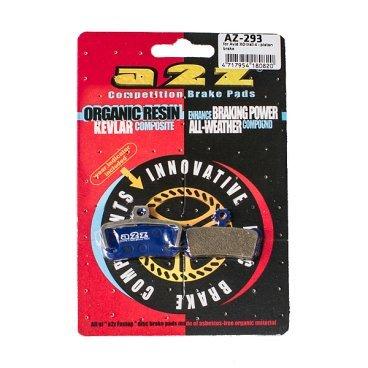 Тормозные колодки A2Z Avid X0 Trail 4-piston, синий, AZ-293Тормоза на велосипед<br>A2Z - небольшой тайваньский завод по производству велосипедных запчастей, специализируется на выпуске высококачественных компонентов, легких втулок, тормозных дисков, титановых эксцентриков и других деталей.<br><br>    Превосходные тормозные свойства колодок уменьшают тормозной путь<br>    Высокоэффективный состав увеличивает мощность при любых погодных условиях<br>    Все тормозные колодки A2Z сделаны из органических соединений и не содержат асбеста<br><br>Виды тормозных колодок A2Z:<br> - Blue (organic) - высокоэффективные органические колодки, на 110%* выше мощность и на 150%* дольше срок службы <br><br>*по сравнению со стоковыми колодками<br>