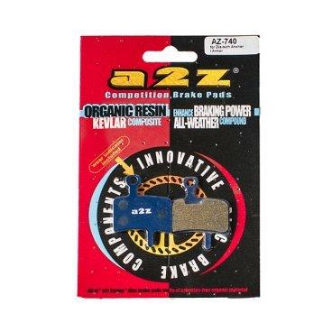 Тормозные колодки A2Z Dia-Tech Anchor/ Armor, синий, AZ-740Тормоза на велосипед<br>A2Z - небольшой тайваньский завод по производству велосипедных запчастей, специализируется на выпуске высококачественных компонентов, легких втулок, тормозных дисков, титановых эксцентриков и других деталей. <br><br>    Превосходные тормозные свойства колодок уменьшают тормозной путь<br>    Высокоэффективный состав увеличивает мощность при любых погодных условиях<br>    Все тормозные колодки A2Z сделаны из органических соединений и не содержат асбеста <br><br>Виды тормозных колодок A2Z: <br> - Blue (organic) - высокоэффективные органические колодки, на 110%* выше мощность и на 150%* дольше срок службы <br> - Silver (organic) - высокоэффективные органические колодки на алюминиевой подложке, легче колодок Blue на 50% <br> - Gold (Sintered) - высокоэффективные метализированные колодки, служат на 300%* больше <br><br>*по сравнению со стоковыми колодками<br>