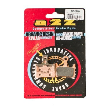 Тормозные колодки A2Z Hayes PRIME, золотистый, AZ-261SТормоза на велосипед<br>A2Z - небольшой тайваньский завод по производству велосипедных запчастей, специализируется на выпуске высококачественных компонентов, легких втулок, тормозных дисков, титановых эксцентриков и других деталей.<br><br>    Превосходные тормозные свойства колодок уменьшают тормозной путь<br>    Высокоэффективный состав увеличивает мощность при любых погодных условиях<br>    Все тормозные колодки A2Z сделаны из органических соединений и не содержат асбеста<br><br>Виды тормозных колодок A2Z:<br>- Blue (organic) - высокоэффективные органические колодки, на 110%* выше мощность и на 150%* дольше срок службы<br>- Silver (organic) - высокоэффективные органические колодки на алюминиевой подложке, легче колодок Blue на 50%<br>- Gold (Sintered) - высокоэффективные метализированные колодки, служат на 300%* больше<br><br>*по сравнению со стоковыми колодками<br>