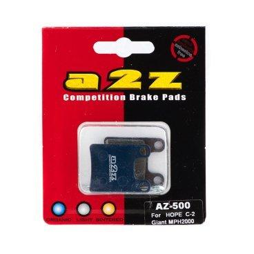 Тормозные колодки A2Z Hope M4, 2 пары, синий, AZ-530Тормоза на велосипед<br>A2Z - небольшой тайваньский завод по производству велосипедных запчастей, специализируется на выпуске высококачественных компонентов, легких втулок, тормозных дисков, титановых эксцентриков и других деталей.<br><br>    Превосходные тормозные свойства колодок уменьшают тормозной путь<br>    Высокоэффективный состав увеличивает мощность при любых погодных условиях<br>    Все тормозные колодки A2Z сделаны из органических соединений и не содержат асбеста<br><br>Виды тормозных колодок A2Z:<br>- Blue (organic) - высокоэффективные органические колодки, на 110%* выше мощность и на 150%* дольше срок службы<br>- Silver (organic) - высокоэффективные органические колодки на алюминиевой подложке, легче колодок Blue на 50%<br>- Gold (Sintered) - высокоэффективные метализированные колодки, служат на 300%* больше<br><br>*по сравнению со стоковыми колодками<br>