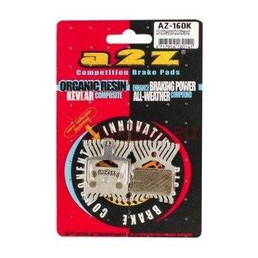 Тормозные колодки A2Z Kooling Magura MTS/MT2/MT4/MT6/MT8 w/spring, золотистый, AZ-160KSТормоза на велосипед<br>A2Z - небольшой тайваньский завод по производству велосипедных запчастей, специализируется на выпуске высококачественных компонентов, легких втулок, тормозных дисков, титановых эксцентриков и других деталей.<br><br>    Превосходные тормозные свойства колодок уменьшают тормозной путь<br>    Высокоэффективный состав увеличивает мощность при любых погодных условиях<br>    Все тормозные колодки A2Z сделаны из органических соединений и не содержат асбеста<br><br>Виды тормозных колодок A2Z:<br>- Blue (organic) - высокоэффективные органические колодки, на 110%* выше мощность и на 150%* дольше срок службы<br>- Silver (organic) - высокоэффективные органические колодки на алюминиевой подложке, легче колодок Blue на 50%<br>- Gold (Sintered) - высокоэффективные метализированные колодки, служат на 300%* больше<br><br>*по сравнению со стоковыми колодками<br>