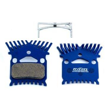 Тормозные колодки A2Z Kooling Shimano M975/965/800/776/775/765/755, с радиатором, синий, AZ-630KТормоза на велосипед<br>A2Z - небольшой тайваньский завод по производству велосипедных запчастей, специализируется на выпуске высококачественных компонентов, легких втулок, тормозных дисков, титановых эксцентриков и других деталей.<br><br>    Превосходные тормозные свойства колодок уменьшают тормозной путь<br>    Высокоэффективный состав увеличивает мощность при любых погодных условиях<br>    Все тормозные колодки A2Z сделаны из органических соединений и не содержат асбеста<br><br>Виды тормозных колодок A2Z:<br>- Blue (organic) - высокоэффективные органические колодки, на 110%* выше мощность и на 150%* дольше срок службы<br>- Silver (organic) - высокоэффективные органические колодки на алюминиевой подложке, легче колодок Blue на 50%<br>- Gold (Sintered) - высокоэффективные метализированные колодки, служат на 300%* больше<br><br>*по сравнению со стоковыми колодками<br>