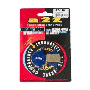 Тормозные колодки A2Z Magura Julie / Lousise 07, синий, AZ-130Тормоза на велосипед<br>A2Z - небольшой тайваньский завод по производству велосипедных запчастей, специализируется на выпуске высококачественных компонентов, легких втулок, тормозных дисков, титановых эксцентриков и других деталей.<br><br>    Превосходные тормозные свойства колодок уменьшают тормозной путь<br>    Высокоэффективный состав увеличивает мощность при любых погодных условиях<br>    Все тормозные колодки A2Z сделаны из органических соединений и не содержат асбеста<br><br>Виды тормозных колодок A2Z:<br>- Blue (organic) - высокоэффективные органические колодки, на 110%* выше мощность и на 150%* дольше срок службы<br>- Silver (organic) - высокоэффективные органические колодки на алюминиевой подложке, легче колодок Blue на 50%<br>- Gold (Sintered) - высокоэффективные метализированные колодки, служат на 300%* больше<br><br>*по сравнению со стоковыми колодками<br>