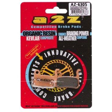 Тормозные колодки A2Z Shimano XTR/XT/SAINT/LX/HONE, золотистый, AZ-630SТормоза на велосипед<br>A2Z - небольшой тайваньский завод по производству велосипедных запчастей, специализируется на выпуске высококачественных компонентов, легких втулок, тормозных дисков, титановых эксцентриков и других деталей.<br><br>    Превосходные тормозные свойства колодок уменьшают тормозной путь<br>    Высокоэффективный состав увеличивает мощность при любых погодных условиях<br>    Все тормозные колодки A2Z сделаны из органических соединений и не содержат асбеста<br><br>Виды тормозных колодок A2Z:<br>- Blue (organic) - высокоэффективные органические колодки, на 110%* выше мощность и на 150%* дольше срок службы<br>- Silver (organic) - высокоэффективные органические колодки на алюминиевой подложке, легче колодок Blue на 50%<br>- Gold (Sintered) - высокоэффективные метализированные колодки, служат на 300%* больше<br><br>*по сравнению со стоковыми колодками<br>