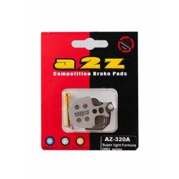 Тормозные колодки A2Z Super light for Formula ORO, AZ-320AТормоза на велосипед<br>A2Z - небольшой тайваньский завод по производству велосипедных запчастей, специализируется на выпуске высококачественных компонентов, легких втулок, тормозных дисков, титановых эксцентриков и других деталей.<br><br>    Превосходные тормозные свойства колодок уменьшают тормозной путь<br>    Высокоэффективный состав увеличивает мощность при любых погодных условиях<br>    Все тормозные колодки A2Z сделаны из органических соединений и не содержат асбеста<br><br>Виды тормозных колодок A2Z:<br>- Blue (organic) - высокоэффективные органические колодки, на 110%* выше мощность и на 150%* дольше срок службы<br>- Silver (organic) - высокоэффективные органические колодки на алюминиевой подложке, легче колодок Blue на 50%<br>- Gold (Sintered) - высокоэффективные метализированные колодки, служат на 300%* больше<br><br>*по сравнению со стоковыми колодками<br>