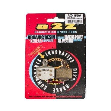 Тормозные колодки A2Z, AZ, Magura 11 MT2 / MT4 / MT6 / MT8, серебристый, AZ-160AТормоза на велосипед<br>A2Z - небольшой тайваньский завод по производству велосипедных запчастей, специализируется на выпуске высококачественных компонентов, легких втулок, тормозных дисков, титановых эксцентриков и других деталей.<br><br>    Превосходные тормозные свойства колодок уменьшают тормозной путь<br>    Высокоэффективный состав увеличивает мощность при любых погодных условиях<br>    Все тормозные колодки A2Z сделаны из органических соединений и не содержат асбеста<br><br>Виды тормозных колодок A2Z:<br>- Blue (organic) - высокоэффективные органические колодки, на 110%* выше мощность и на 150%* дольше срок службы<br>- Silver (organic) - высокоэффективные органические колодки на алюминиевой подложке, легче колодок Blue на 50%<br>- Gold (Sintered) - высокоэффективные метализированные колодки, служат на 300%* больше<br><br>*по сравнению со стоковыми колодками<br>
