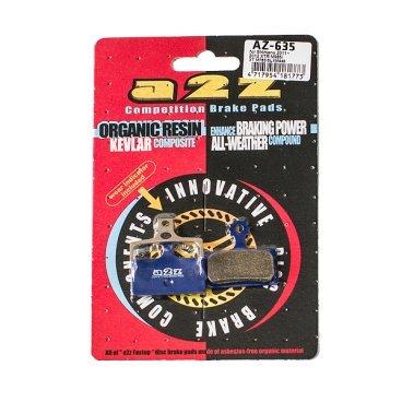 Тормозные колодки A2Z, AZ, Shimano 11 XTR985 /XT M785 /SLX M446, синий, AZ-635Тормоза на велосипед<br>A2Z - небольшой тайваньский завод по производству велосипедных запчастей, специализируется на выпуске высококачественных компонентов, легких втулок, тормозных дисков, титановых эксцентриков и других деталей.<br><br>    Превосходные тормозные свойства колодок уменьшают тормозной путь<br>    Высокоэффективный состав увеличивает мощность при любых погодных условиях<br>    Все тормозные колодки A2Z сделаны из органических соединений и не содержат асбеста<br><br>Виды тормозных колодок A2Z:<br>- Blue (organic) - высокоэффективные органические колодки, на 110%* выше мощность и на 150%* дольше срок службы<br>- Silver (organic) - высокоэффективные органические колодки на алюминиевой подложке, легче колодок Blue на 50%<br>- Gold (Sintered) - высокоэффективные метализированные колодки, служат на 300%* больше<br><br>*по сравнению со стоковыми колодками<br>