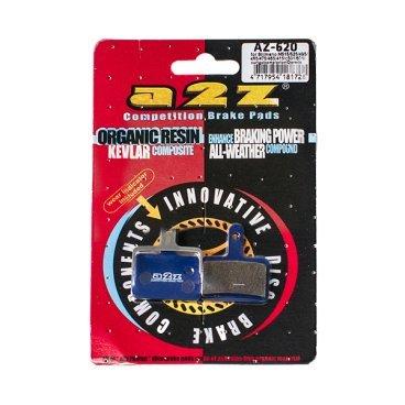 Тормозные колодки A2Z, AZ, Shimano Deore BR-M515/475/501/601/465/475/495/Tektro, синий, AZ-620Тормоза на велосипед<br>A2Z - небольшой тайваньский завод по производству велосипедных запчастей, специализируется на выпуске высококачественных компонентов, легких втулок, тормозных дисков, титановых эксцентриков и других деталей.<br><br>    Превосходные тормозные свойства колодок уменьшают тормозной путь<br>    Высокоэффективный состав увеличивает мощность при любых погодных условиях<br>    Все тормозные колодки A2Z сделаны из органических соединений и не содержат асбеста<br><br>Виды тормозных колодок A2Z:<br>- Blue (organic) - высокоэффективные органические колодки, на 110%* выше мощность и на 150%* дольше срок службы<br>- Silver (organic) - высокоэффективные органические колодки на алюминиевой подложке, легче колодок Blue на 50%<br>- Gold (Sintered) - высокоэффективные метализированные колодки, служат на 300%* больше<br><br>*по сравнению со стоковыми колодками<br>