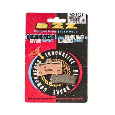 Тормозные колодки A2Z, AZ, Shimano Saint BR-M810, золотистый, AZ-640SТормоза на велосипед<br>A2Z - небольшой тайваньский завод по производству велосипедных запчастей, специализируется на выпуске высококачественных компонентов, легких втулок, тормозных дисков, титановых эксцентриков и других деталей.<br><br>    Превосходные тормозные свойства колодок уменьшают тормозной путь<br>    Высокоэффективный состав увеличивает мощность при любых погодных условиях<br>    Все тормозные колодки A2Z сделаны из органических соединений и не содержат асбеста<br><br>Виды тормозных колодок A2Z:<br>- Blue (organic) - высокоэффективные органические колодки, на 110%* выше мощность и на 150%* дольше срок службы<br>- Silver (organic) - высокоэффективные органические колодки на алюминиевой подложке, легче колодок Blue на 50%<br>- Gold (Sintered) - высокоэффективные метализированные колодки, служат на 300%* больше<br><br>*по сравнению со стоковыми колодками<br>