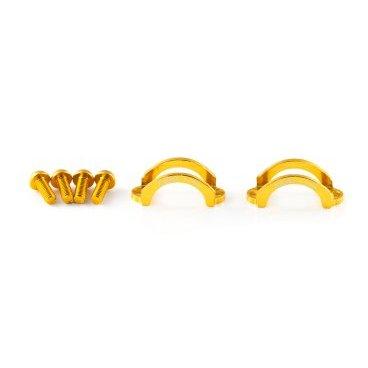 Хомут A2Z, для тормозов Formula B4/TEKTRO, M5 болт, алюминий, золотистый, LC-H5-6Тормоза на велосипед<br>Облегченные алюминиевые хомуты A2Z в комплекте с болтами.<br><br>    Кованный алюминий<br>    100% CNC<br>    Вес: 5г пара !<br>