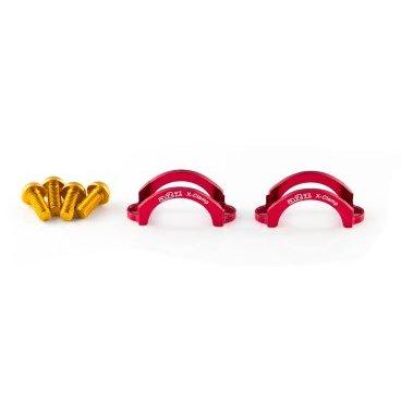 Хомут A2Z, для тормозов Formula B4/TEKTRO, M5 болт, алюминий, красный, LC-H5-3Тормоза на велосипед<br>Облегченные алюминиевые хомуты A2Z в комплекте с болтами.<br><br>    Кованный алюминий<br>    100% CNC<br>    Вес: 5г пара !<br>