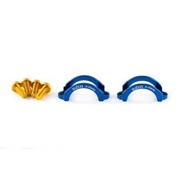 Хомут A2Z, для тормозов Formula B4/TEKTRO, M5 болт, алюминий, синий, LC-H5-4Тормоза на велосипед<br>Облегченные алюминиевые хомуты A2Z в комплекте с болтами.<br><br>    Кованный алюминий<br>    100% CNC<br>    Вес: 5г пара !<br>