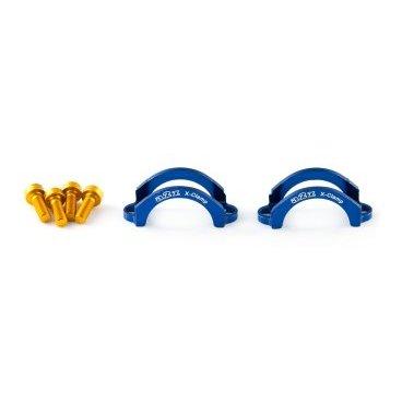 Хомут A2Z, для тормозов Formula ORO, M4 болт, алюминий, синий, LC-H4-4Тормоза на велосипед<br>Облегченные алюминиевые хомуты A2Z в комплекте с болтами.<br><br>    Кованный алюминий<br>    100% CNC<br>    Вес: 5г пара !<br>