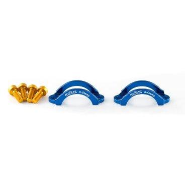 Хомут A2Z, для тормозов Hayes 9, M4 болт, алюминий, синий, LC-L4-4Тормоза на велосипед<br>Облегченные алюминиевые хомуты A2Z в комплекте с болтами.<br><br>    Кованный алюминий<br>    100% CNC<br>    Вес: 5г пара !<br>