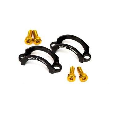 Хомут A2Z, для тормозов Hayes 9, M4 болт, алюминий, черный, LC-L4-1Тормоза на велосипед<br>Облегченные алюминиевые хомуты A2Z в комплекте с болтами.<br><br>    Кованный алюминий<br>    100% CNC<br>    Вес: 5г пара !<br>