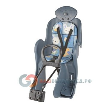 Кресло детское на подседельную трубу VINCA VS 800, накладка с рисунком,  VS 800 animalsДетское велокресло<br>Детское кресло с подголовником и мягкой подкладкой, быстросъёмным креплением на подседельный штырь, регулируемыми фиксаторами для ног и страховочными ремнями, материал ПВХ.<br>Характеристики:<br>Максимальная нагрузка: 22кг<br>Материал: ПВХ.<br>Цвет: Салатный<br>Производство: Тайвань.<br>