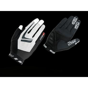 Велоперчатки GripGrab Racing, работают с сенсорным экраном, черно-белыйВелоперчатки<br>GripGrab Racing<br>Невероятно легкие перчатки для маунтибайка. Racing разработаны при участии лучших райдеров мира. На ладони расположены 2мм накладки DoctorGel, а кончики перчаток приспособлены для работы с сенсорными экранами.<br><br>    Комментарий разработчиков:<br>       GripGrab Racing разработаны при совместном сотрудничестве с командой Cannondale Vredestein Racing, с чемпионами мира Jacob Fuglsang  and Roel Paulissen. Их требования были довольно просты: перчатка должна давать ощущение полного контроля над байком. Так и мы сделали, по сути Racing это просто тонкая прослойка между рукой и грипсой, которая придает больше сцепления. Многие спортсмены оценили такую простоту и используют Racing как основные перчатки для соревнований.<br><br>Особенности<br>DoctorGel 2мм<br>Работают с сенсорными экранами<br>Силиконовые накладки под тормозные ручки<br>Эластичная манжета<br>Чистая замшевая ладонь<br>Сетка на верхней стороне<br>gMagnets - легко хранить перчатки парой<br>Светоотражающие логотипы<br><br><br>Уход<br>Машинная стирка с такими же цветами. Не отбеливать. Не сушить в стиральной машине. <br>Не гладить. Не подвергать химической чистке. Не отжимать. <br><br>Материалы<br>40% Нейлон <br>40% Полиэстер <br>10% Полиуретан <br>10% Эластан<br>