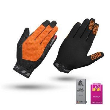 Велоперчатки GripGrab Vertical, силиконовые вставки, синтетическая замша, черно-оранжевыйВелоперчатки<br>Велоперчатки GripGrab Long Vertical 2017 предназначены для даунхилла и фрирайда. Их отличает оригинальная технология InsideGrip, которая предотвращает скольжения рук внутри перчаток и обеспечивает непревзойденную хватку и максимальный контроль при езде. Эластичные манжеты плотно облегают запястье. Дополнительная функция удаления пота. Светоотражающий логотип.<br><br>Особенности<br>Технология InsideGrip<br>Без подкладки<br>Силиконовые накладки под тормозные ручки<br>Функция удаления пота<br>Материал ладони: синтетическая замша<br>Сетчатые вставки на верхней стороне<br>Светоотражающий логотип<br><br><br>Уход<br>Машинная стирка с такими же цветами. Не отбеливать. Не сушить в стиральной машине. <br>Не гладить. Не подвергать химической чистке. Не отжимать.<br><br>Размер L,  M, S, XL, XXL<br>