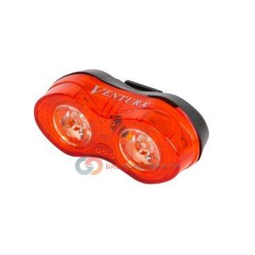 Фонарь задний поворотный VENTURA,  0,5W 4 функции, +батарейки, красный, 5-221053Фары и фонари для велосипеда<br>Фонарь задний поворотный VENTURA,  0,5W 4 функции, +батарейки! <br><br> NEW, светодиодный габаритный фонарь для Ващего велосипеда! <br> 2 диода повышенной яркости  0,5Вт, 4 режима работы, с батареями вкомплекте <br>Красный, есть варианты вертикального/горизонтального крепления на подседельный штырь без специального инструмента. Блистер в комплекте.<br>