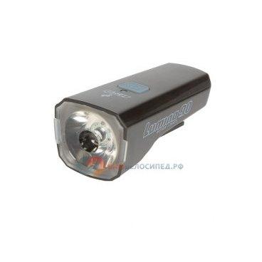 Фара передняя AUTHOR LUMINA 90 1 белый диод/3 функции USB-зарядка+кабель черная 8-12002265Фары и фонари для велосипеда<br>Фара передняя AUTHOR LUMINA 90 USB-зарядка+кабель черная  <br>-  светодиодная, 1 белый диод повышенной яркости 1W 100 люмен, 3 функции <br>- технология COLLIMATOR (парабола с оптическим стеклом) обеспечивает высокую интенсивность и фокусировку светового потока), Li-Ion аккумулятор 860mAh, с зарядкой от USB (кабель в комплекте), низкое энергопотребление, до 8/4/2час, 1000 циклов зарядки <br>- крепление на руль без инструмент; блистер <br>- прорезиненный корпус, черная <br>Артикул 8-12002265<br>