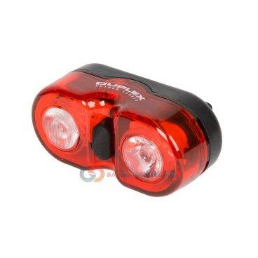 Фонарь задний AUTHOR A-DUPLEX 2 диода 0,5 W с батареями 8-12039131Фары и фонари для велосипеда<br>Фонарь задний AUTHOR A-DUPLEX 2 диода 0,5 W с батареями <br>- светодиодный, 2 супердиода повышенной яркости 0,5 W, 3 функции <br>- до 80/18час, с батареями, красный <br>- вращающееся крепление на подседельный штырь без инструмента, блистер <br>Артикул 8-12039131<br>
