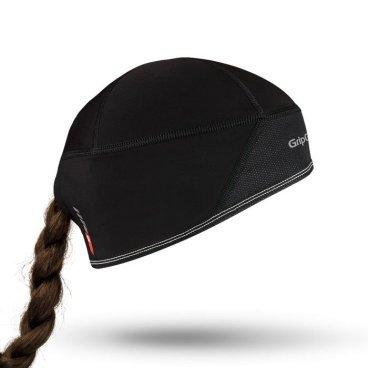 Шапка женская GripGrab Skull Cap Windster Woman, ветрозащита, черныйБандана<br>Мягкая, легкая и изолирующая кепка с ветронепроницаемым слоем. Идеально подходит для езды на велосипеде, лыжных гонок и пешего туризма.<br>