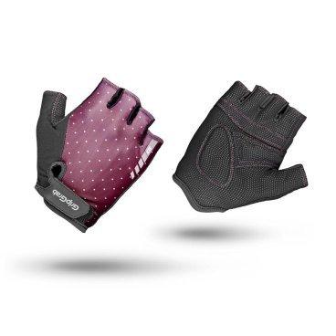 Велоперчатки женские короткие GripGrab Rouleur, удаление пота, лайкра/замша, фиолетовыйВелоперчатки<br>Велоперчатки GripGrab Short Rouler имеют превосходную посадку и разработаны специально для женщин. Подходят для поездок на короткие расстояния. Изготовлены из легкого, эластичного материала, что обеспечивает максимальную свободу и отличное сцепление. Дополнительная функция удаления пота. <br><br>Особенности<br>Функция удаления пота<br>Система снятия Pull-off<br>Материал ладони: Digital замша<br>Эластичная лайкра на верхней стороне<br>Светоотражающий логотип<br>Застежка-липучка<br>Женская посадка <br><br><br>Размер перчаток XS, S, M, L <br><br>Уход<br>Машинная стирка с такими же цветами. Не отбеливать. Не сушить в стиральной машине. <br>Не гладить. Не подвергать химической чистке. Не отжимать. <br><br>Материалы<br>60% Полиэстер<br>20% Полиуретан<br>10% Полиамид<br>10% Эластан<br>