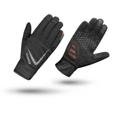 Велоперчатки зимние GripGrab Cloudburst, силиконовые вставки, гелевые накладки, черныйВелоперчатки<br>Велоперчатки женские GripGrab Short Solara - это супер легкие и дышащие перчатки с идеальным балансом между комфортом и контролем. Обеспечивают максимальную свободу движения вместе с отличным сцеплением благодаря технологии DoctorGel 4 мм. Выполнены из легких, эластичных материалов. Имеют превосходную посадку, разработанную специально для женщин. Slip-in манжеты позволяют легко одевать и снимать перчатки. Светоотражающие логотипы улучшают видимость в условиях низкой освещенности. <br><br>Особенности<br>Верх изготовлен из материала, пропускающий солнечный свет<br>Гелевые накладки DoctorGel 4 мм<br>Светоотражающий логотип<br>Система снятия Pull-off<br>Материал ладони: AX замша<br>Slip-in манжеты<br><br>Размер перчаток S, M, L, XL, XXL <br><br>Уход<br>Машинная стирка с такими же цветами. Не отбеливать. Не сушить в стиральной машине. <br>Не гладить. Не подвергать химической чистке. Не отжимать.<br><br>Материалы<br>90% Полиэстер<br>5% Полиамид<br>5% Эластан<br>