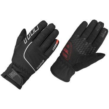 Велоперчатки зимние GripGrab Nordic Gloves, ветро- влагозащита, гелевые вставки, черныйВелоперчатки<br>В основе этих перчаток водонепроницаемая и дышащая мембрана Sympatex, что в сочетании с отличной эластичностью и анатомической формой делает их лучшим выбором для зимних и осенних тренировок в дождь и снег. Светоотражающая полоска обезопасит вас в темное время суток, сделав заметным на дороге.<br><br>Особенности<br>Ветрозащита и влогозащита<br>Дышащий материал<br>Гелевая подушка DoctorGel ™ - позволяет ладони не уставать и смягчает удар при падении<br>Светоотражатели<br>Стратегически расположенная зона SweatWipe, для вытирания пота со лба<br>Температурный режим: от -5 ° С до +5 * C<br><br>Размер перчаток XS, S, M, L, XL, XXL <br><br>Уход:    <br>Машинная стирка в режиме Ручная стирка, температура 30°С. Не сушить в стиральной машине. Не отжимать. Не гладить<br><br>Материалы<br>95% Полиэстер <br>3% Полиамид<br>2% Эластан<br>