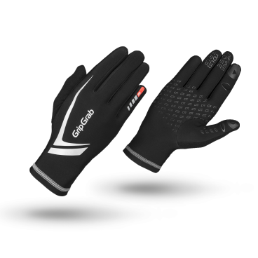 Велоперчатки зимние GripGrab Running Expert, воздухонепроницаеморсть, силиконовые вставки, черныйВелоперчатки<br>Высокотехнологичные перчатки GripGrab Running Expert обеспечивают высокую теплоизоляцию с превосходной воздухопроницаемостью. Больше нет необходимости снимать перчатки что бы воспользоваться смартфоном, перчатки отлично работают с сенсорными дисплеями. Яркий дизайн увеличивает безопасность на дорогах общего пользования, идеально для города и городских окрестностей.<br><br>    Комфортная зона от -5 °C до +5 °C<br>    Высокая воздухопроницаемость<br>    Силиконовые вставки<br>    Светоотражающие логотипы<br>    Работают с сенсорными экранами <br><br>Размер XS, S, M, L, XL. XXL<br><br>Уход<br>Машинная стирка с вещами такого же цвета. Не использовать отбеливатель. Не сушить в стиральной машине. Не отжимать. Не применять химчистку. Не гладить.<br>