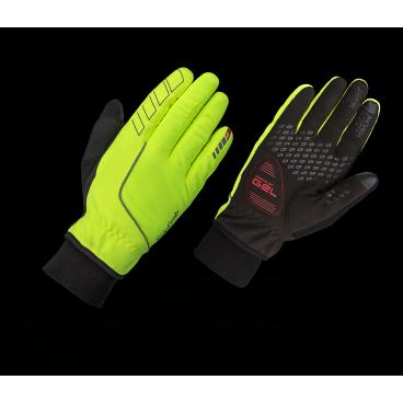 Велоперчатки зимние GripGrab Windster Gloves, гелевые вставки, удаление пота, желтыйВелоперчатки<br>Перчатки Windster Hi-Vis это комфортные зимние перчатки, сочетающие в себе отличную термоизоляцию, анатомический крой и превосходный стиль. Их дышащие, влагозащитные и термоизоляционные свойства отлично подходят для использования перчаток в мокрую и холодную погоду.<br>Windster Hi-Vis обеспечивают комфорт и отлично сидят на руках благодаря особой конструкции пальцев перчатки с растягивающейся внешней частью. Ладонь изготовлена из искусственного тканого материала, который обладает высокой износостойкостью, но при этом мягкий и водонепроницаемый. Внутренняя часть перчатки обеспечивает защиту от холода и комфорт вашей руке. Яркая расцветка перчаток увеличивает безопасность при катании в темное время суток. На перчатке есть специальная вставка для вытирания пота с лица, также вы без проблем сможете работать в перчатках с тачскринами различных гаджетов.<br><br>    Комфортная температура от 0 °C до +10 °C<br>    Яркая расцветка<br>    Ветро- и влагозащищенные<br>    Дышащий материал перчаток<br>    Гелевая вставка 4 мм DoctorGel™<br>    Силиконовые вставки на пальцах<br>    Светоотражающие надписи<br>    Позволяют работать с тачскрином<br>    Вставка для вытирания пота<br>    Вязаные манжеты<br><br>Размер XS, S, M, L, XL, XXL<br><br>Уход<br>Машинная стирка с такими же цветами. Не отбеливать. Не сушить в стиральной машине. <br>Не гладить. Не подвергать химической чистке. Не отжимать.<br><br>Материалы:<br>90% полиэстер<br>10% полиамид<br>