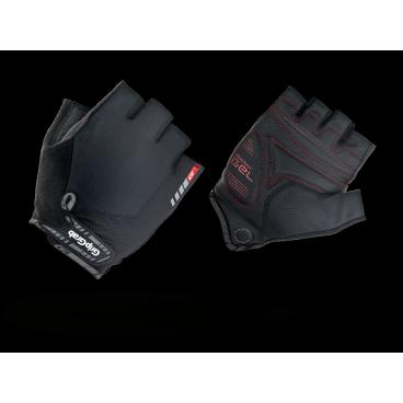 Велоперчатки короткие GripGrab ProGel, синтетисческая кожа, гелевые накладки, черныйВелоперчатки<br>GripGrab ProGel<br>Наиболее комфортные перчатки без пальцев. Сделаны из легких эластичных материалов, отлично сидят по руке не стесняя движений. Гелевые накладки DoctorGel толщиной 4мм препятствуют уставанию и онемению кистей рук.<br><br>Осбенности<br>Гелевые накладки DoctorGel 4мм<br>Pull-off - перчатки удобно снимать<br>Отличное сцепление<br>Эластичный верх из лайкры<br>gMagnets - перчатки удобно хранить парой<br>Светоотражающие логотипы <br><br>Размер XS, S, M, L, XL, XXL<br><br>Уход<br>Машинная стирка С такими же цветами. Не отбеливать. Не сушить в стиральной машине. <br>Не гладить. Не подвергать химической чистке. Не отжимать. <br><br>Материалы<br>40% Полиэстер<br>30% Нейлон<br>20% Полиуретан<br>10% Эластан<br>