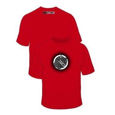 Футболка Stans NoTubes T-Shirt Stans 2011, красный, PR0097Велофутболка<br>Футболка Stan`s NoTubes 100% хлопок с логотипом.<br>