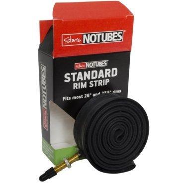 Бескамерная ободная лента с ниппелем Stans NoTubes STANDARD, RS0017Обода<br>Ободная лента с ниппелем Presta, для установки бескамерной покрышки на двойные обода 26 дюймов с внутренней шириной от 21.5 до 24.5мм.<br>