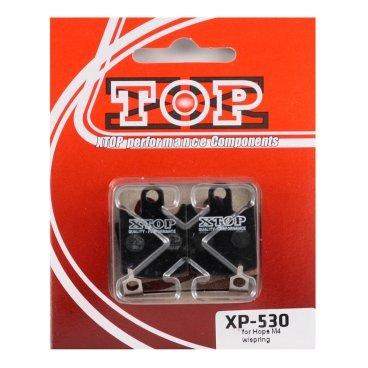 Тормозные колодки X-Top Hope M4 ( 2 pairs) w/spring, Blue, XP-530Тормоза на велосипед<br>Качественные недорогие колодки, обеспечивают уверенное торможение и низкий уровень шума. <br><br><br>Blue (Organic) - органический мягкий состав, быстрая реакция на торможение (средний срок службы 1 сезон)<br>
