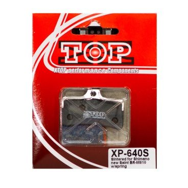 Тормозные колодки X-Top Shimano Saint BR-M810, Gold, XP-640SТормоза на велосипед<br>Качественные недорогие колодки, обеспечивают уверенное торможение и низкий уровень шума. <br><br><br>Gold (Sintered) - металлизированные колодки, увеличенный ресурс и быстрое охлаждение (средний срок службы 2 сезона)<br>