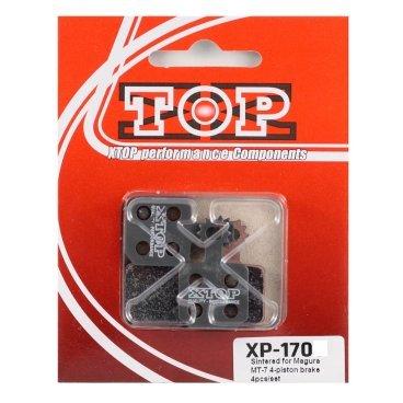 Тормозные колодки X-Top Magura MT-7 4-piston brake 4pcs/set, Blue, XP-170Тормоза на велосипед<br>Качественные недорогие колодки, обеспечивают уверенное торможение и низкий уровень шума. <br><br><br>Blue (Organic) - органический мягкий состав, быстрая реакция на торможение (средний срок службы 1 сезон)<br>