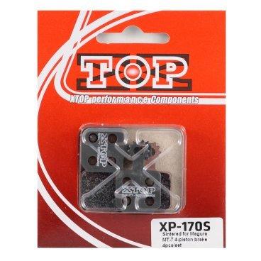 Тормозные колодки X-Top Magura MT-7 4-piston brake 4pcs/set, Gold, XP-170SТормоза на велосипед<br>Качественные недорогие колодки, обеспечивают уверенное торможение и низкий уровень шума. <br><br><br>Gold (Sintered) - металлизированные колодки, увеличенный ресурс и быстрое охлаждение (средний срок службы 2 сезона)<br>