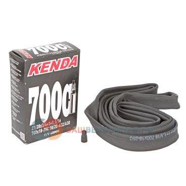 Камера для велосипеда KENDA 28(700х18/25C) узкая спортниппель 48мм 5-511291Камеры для велосипеда<br>Камера для велосипеда KENDA 28(700х18/25C) узкая спорт 48мм<br>700х18-25С, ниппель спортивный 48 мм,  узкая, высокоэластичная бутиловая резина, индивидуальная упаковка<br>Артикул 5-511291<br>