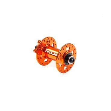 Втулка передняя RIDE Trail QR, 32h, 100 мм, оранжевый, RFT32100ORВтулки для велосипеда<br>Передняя дисковая втулка с десятимиллиметровой осью. Корпус и ось изготовлены из алюминиевого сплава марки 7075, а два закрытых подшипника обеспечивают втулке надёжность и долгую жизнь. Отдельно можно приобрести адаптеры для установки 15-миллиметровой оси.<br><br><br><br>ОСОБЕННОСТИ<br><br><br><br>Материал корпуса и оси: алюминиевый сплав марки 7075<br><br>Два закрытых подшипника<br><br>Диаметр оси: 10мм<br><br>Количество отверстий для спиц: 32<br><br>Цвет: оранжевый<br><br>Вес: 173.5 грамма<br>