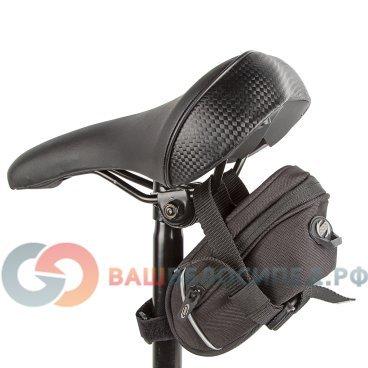 Сумка велосипедная подседельная BBB EasyPack M, черная, BSB-21Велосумки<br>Крепление под седло<br><br>Легко чистится<br><br>Резиновые молния пулер предотвращает дребезжания.<br><br>Светоотражающий логотип BBB.<br><br><br>Размеры:<br><br>Длина: 160мм,<br> <br>Ширина: 50-80мм,<br><br>Высота: 65мм<br>