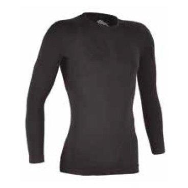 Термомайка GSG Long Sleeve Seamless Underwear Jersey, черный, 01082-03-S/MВелофутболка<br>Тонкая, эластичная и очень удобная фуфайка для ношения под одеждой. Модель выполнена из дышащей синтетической ткани и отлично сохраняет тепло, обеспечивая гонщику максимальный комфорт в прохладную погоду.<br><br><br><br>ОСОБЕННОСТИ<br><br><br><br>Материал: полипропилен<br><br>Рассчитана на температурный режим от 0 до +16 градусов<br>