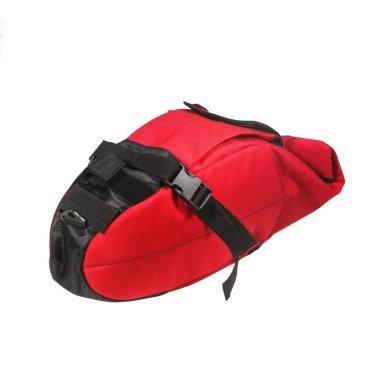 Сумка подседельная ВелоХорошо, 18х18х60см, 4-8л, красная, SB01Велосумки<br>Эта сумка способна освободить ваши руки, при этом мы не забыли про стиль, существует несколько дизайнов. Каждый найдет что-то для себя.Сумка довольно вместительна, но при этом чтобы ее использовать не нужно ничего кроме седла. сумка крепится к подседельному штырю и седлу в 3-х точках, что позволяет её надежно закрепить. доступ ко всему содержимому осуществляется легко, для этого ее не нужно снимать. Сумка может быть использована для транспортировки как самых необходимых вещей (документы, деньги, ключи, телефон) так и для более дальних поездок в которых может протребоваться дождевик, велонасос, инструменты или бутылка воды. Благодаря уникальной конструкции типа Rolltop объём нашей сумки меняется от 4х до 8 литров в считанные секунды.<br><br>дополнительных креплений не требуется<br> <br>кол-во отделений: (одно большое отделение,1 маленький карман на липучке с карабином,1 боковой карман сетка)<br> <br>габариты(18х18х60см)<br> <br>• объём(4-8л):<br> <br>вес: 370гр.<br> <br>материал : 100% Нейлон плотность 1000d с водоотnалкивающей пропиткой <br> <br>Каркас: Мягкий в сочетании с уплотняющими материалами, жесткое дно.<br> <br>Доп характеристики: (лямка на плечо для удобной переноски)<br>