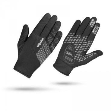 Велоперчатки GripGrab Ride Windproof, черныеВелоперчатки<br>Велоперчатки GripGrab Ride Windproof, черные.<br>Описание:<br>Велоперчатки GripGrab Ride Windproof Glove, мембранный материал (95% Polyester 5% Polyamide), вентилируемые с умеренной защитой от дождя, вставки с фирменным наполнителем DoctorGel® 4 mm, светоотражающая графика, силиконовые вставки для лучшего контакта с рулем, совместимость с тач-экранами.Температурный режим: от0°C до+15°C градусов.<br>Размеры: S, XS, M, L, XL, XXL.<br>