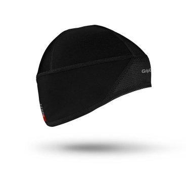 Шапка GripGrab Skull Cap Windster M, Black, 500101205Бандана<br>Шапка GripGrab Skull Cap Windster, черная.<br><br>Описание:.<br>Мягкая, легкая и изолирующая шапка с ветронепроницаемым слоем. Идеально подходит для езды на велосипеде, лыжных гонок и пешего туризма.<br><br>Особенности: <br>-Ветрозащитная передняя часть<br>-Дышащая комфортная ткань<br>-Светоотражающая графика<br><br>Уход:<br>Машинная стирка с такими же цветами. Не отбеливать. Не сушить в стиральной машине. Не гладить. Не подвергать химической чистке. Не отжимать. <br>Материалы:<br>-75% Полиамид.<br>-25% Полиэстер<br><br>Размеры: M (57-60см).<br>