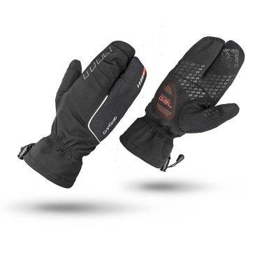 Велоперчатки зимние GripGrab Nordic черныеВелоперчатки<br>Велоперчатки зимние GripGrab Nordic, черные.<br><br>Описание:<br>Очень теплые и комфортные перчатки для катания зимой. Внешний влаго- и ветронепроницаемый слой дополнен дизайном «лобстер» и максимальной степенью термоизоляции позволяют сохранить тепла и комфорт для ваших рук в при отрицательных температурах. Трехпальцевая конструкция перчатки оставляет достаточную степень свободы для управления велосипедом.  Ладонь перчаток Nordic водонепроницаемая, специальные вставки на пальцах позволяют пользоваться тачскрином, не снимая перчаток.<br>Особенности:<br>   -Температурный режим: от 0° С до -10° С<br>   - Максимальная степень термоизоляции<br>   - Ветро- и влаго непроницаемость<br>   - Дышащий материал<br>   - Гелевые вставки 4 мм DoctorGel™ <br>   - Силиконовые вставки на ладони и пальцах<br>   - Светоотражающая графика<br>   - Вставки для работы с тачскрином<br>   - Вставка для вытирания пота<br>   - Манжета с фиксирующим шнурком<br><br>Материалы:<br>-78% полиэстер<br>-20% полиамид<br>-2% эластан <br>Размеры: M, L, XL.<br>