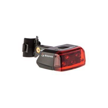 Фара Sigma Sport Cuberider II RL 700 LED черная, 18105Фары и фонари для велосипеда<br>Фара Sigma Sport Cuberider II RL 700 LED черная<br><br>Описание:<br>Светодиодный задний фонарь Sigma Sport Cuberider II RL помогает велосипедисту оставаться хорошо заметным на дороге. Устанавливается без инструментов. Имеет широкий угол действия.<br> <br>Особенности:<br>-Водонепроницаемый корпус<br>-Индикатор заряда батареи<br>-Установка без инструментов<br><br>Характеристики:<br>-5 Светодиодов<br>-2 режима: обычный и стробоскоп<br>-Время работы: до 60 часов<br>-Видимость: 100 м<br>-Угол обзора: 220°<br>-Батарея: AAA (2 шт.)<br>-Материал: пластик<br>