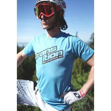 Джерси TBC Swift Jersey (Style: Split Logo, Color: Blue, Size: Medium)Велоджерси<br>Джерси TBC Swift Jersey, голубая.<br><br>Описание<br>Фирменная джерси с коротким рукавом от Transition.<br><br>Характеристики:<br>Короткие рукава<br>Дашит и быстро сохнет<br>Выполнена супер мягкого трикотажа<br>Фирменный логотип спереди.<br>Размер - M.<br>